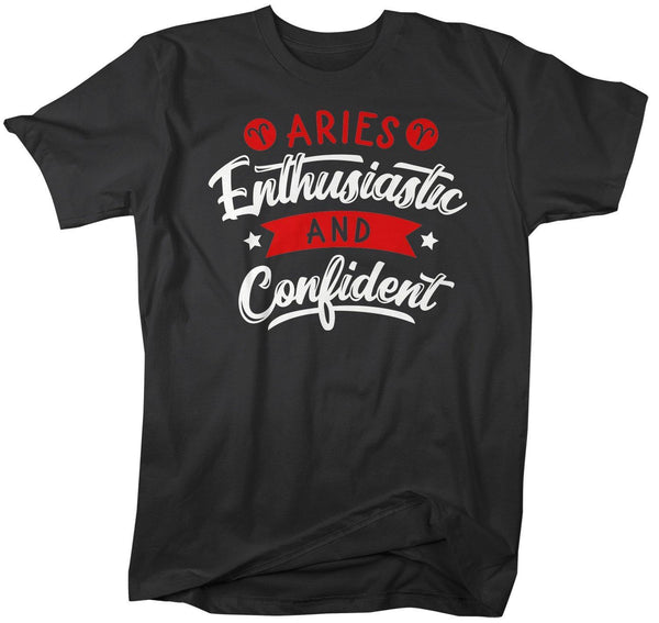 Men's Aries T-Shirt Enthusiastic & Confident Shirt Horoscope Shirt Astrology Shirts Aries TShirt Astrological-Shirts By Sarah