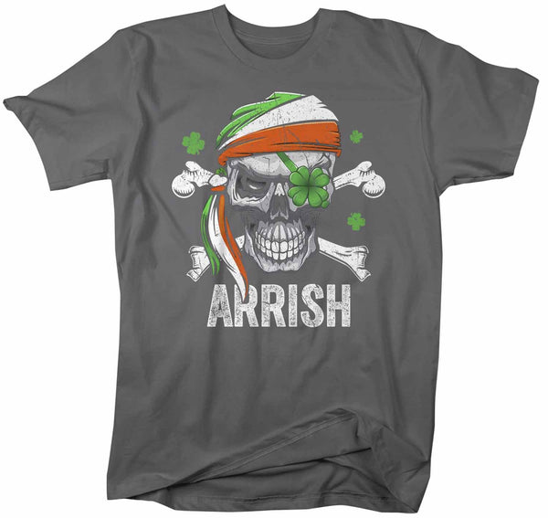 Men's Funny St Patrick's Day T Shirt Pirate Shirt Arrish T Shirt Funny Irish Shirt Irish Pirate Shirt-Shirts By Sarah