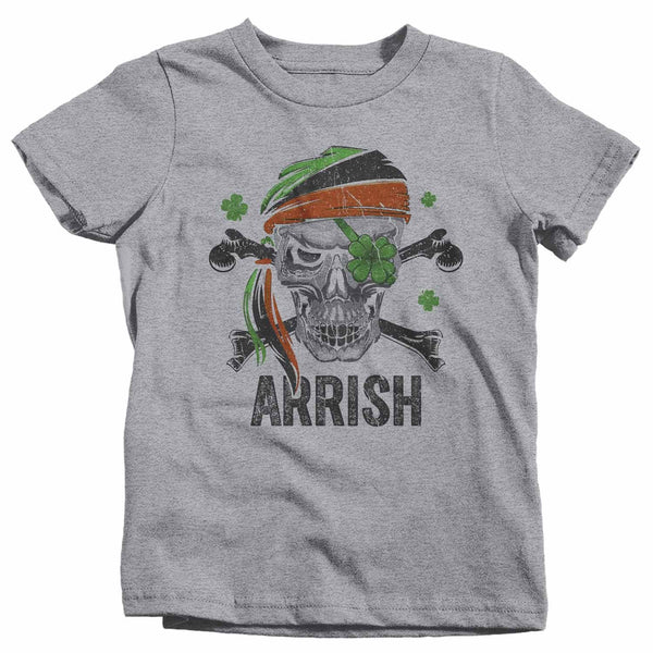 Kids Funny St Patrick's Day T Shirt Pirate Shirt Arrish T Shirt Funny Irish Shirt Irish Pirate Shirt-Shirts By Sarah