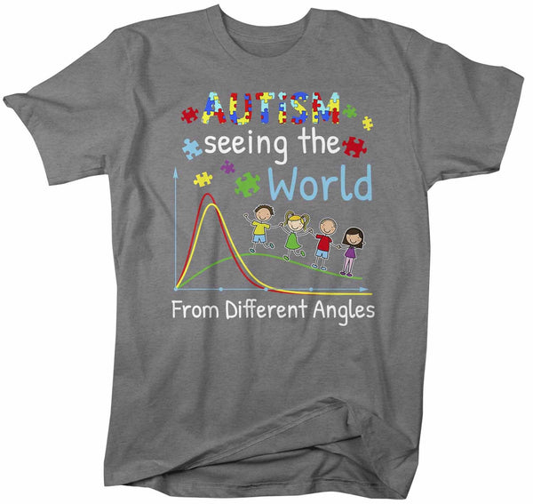Men's Autism T Shirt Seeing World Different Angles Shirt Autism Awareness Shirt Cute Autism Tee-Shirts By Sarah
