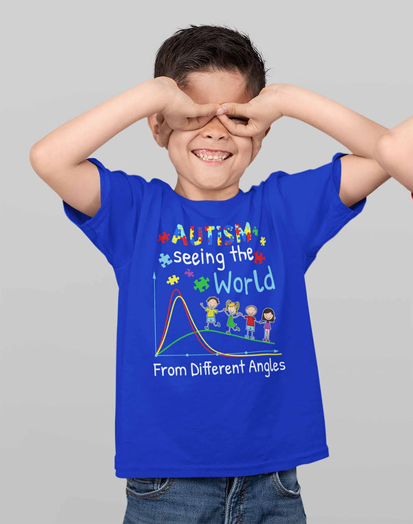 Kids Autism T Shirt Seeing World Different Angles Shirt Autism Awareness Shirt Cute Autism Tee-Shirts By Sarah