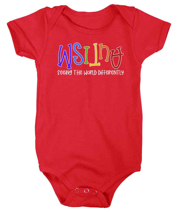Baby Autism Shirt Seeing The World Differently Bodysuit Autism Tee Not Less Snap Suit Support Autism Awareness One Piece-Shirts By Sarah