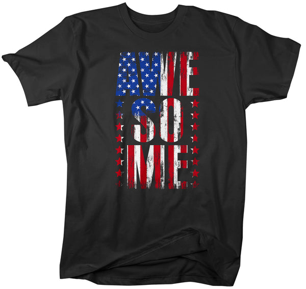Men's Flag T Shirt Awesome Shirt USA Patriotic TShirt Flag Shirt Stars Stripes Tee Unisex Men Patriot Gift Idea-Shirts By Sarah