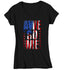 Women's V-Neck Flag T Shirt Awesome Shirt USA Patriotic TShirt Flag Shirt Stars Stripes Tee Ladies Woman Patriot Gift Idea-Shirts By Sarah