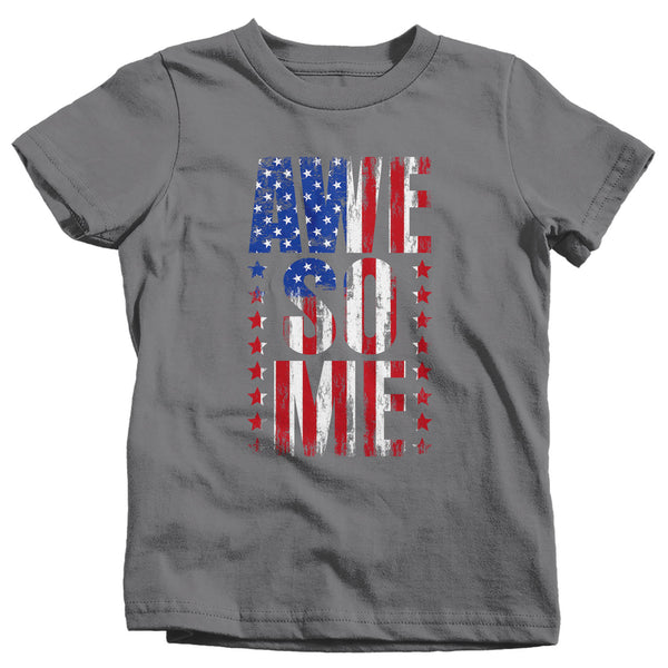 Kids Flag T Shirt Awesome Shirt USA Patriotic TShirt Flag Shirt Stars Stripes Tee Unisex Boys Girls Patriot Gift Idea-Shirts By Sarah