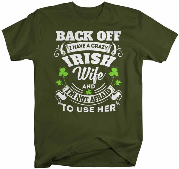 Men's Personalized Irish T Shirt Crazy Irish Wife Shirt Custom Irish Shirt St Patrick's Day Shirt St Pats Day-Shirts By Sarah