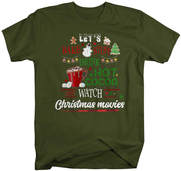 Men's Funny Christmas Movies T Shirt Bake Stuff Christmas Shirts Watch Christmas Movies Shirt Cocoa Shirt-Shirts By Sarah