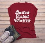 Men's Funny Thanksgiving T Shirt Basted Tasted Waisted Happy Thanksgiving Saying Tee-Shirts By Sarah