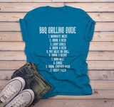 Men's Funny BBQ Shirt Grilling Guide Tshirt Funny Gift Idea Grill Shirt Beer Tshirt Dad Gift Idea-Shirts By Sarah