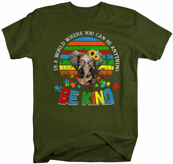Men's Autism Awareness T Shirt Be Kind Shirt Autism Elephant Shirt Boho Autism Shirt Autism Awareness Shirt-Shirts By Sarah