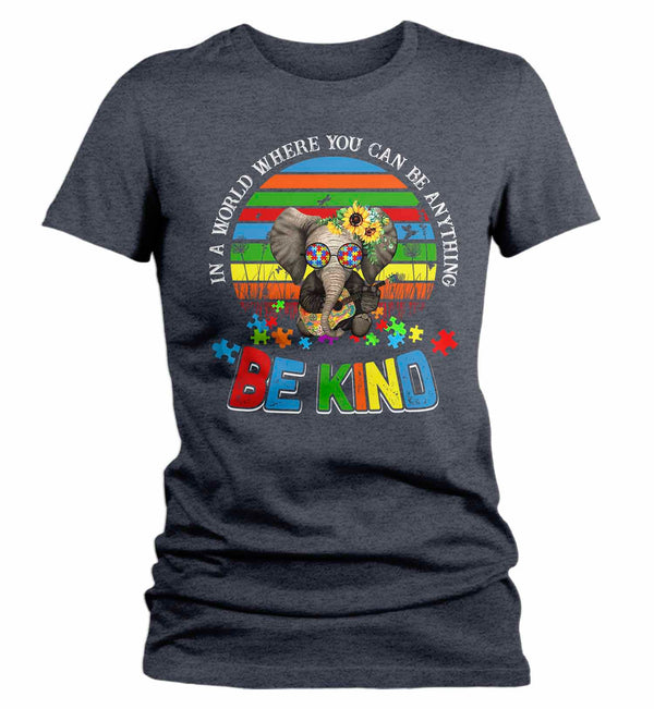 Women's Autism Awareness T Shirt Be Kind Shirt Autism Elephant Shirt Boho Autism Shirt Autism Awareness Shirt-Shirts By Sarah