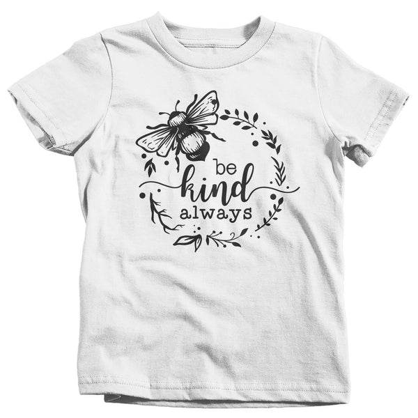 Kids Be Kind Always T Shirt Kindness Shirts Be Kind Shirt Wreath Boho Hippie Shirts Flower T Shirt Vintage Shirt-Shirts By Sarah