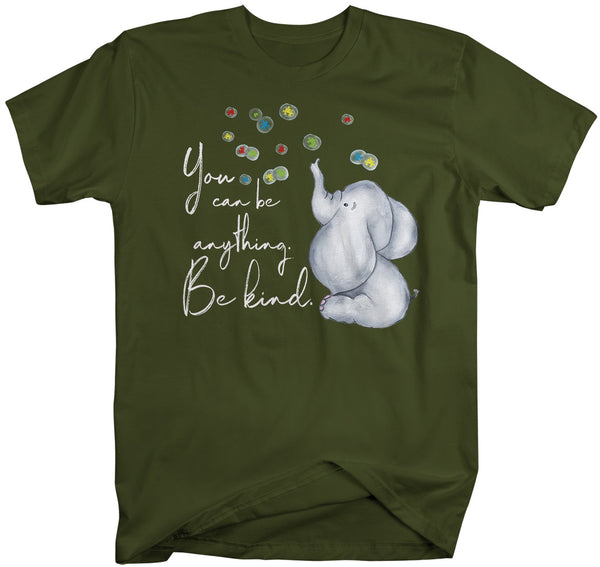 Men's Autism Awareness Shirt Be Kind Autism Shirt Elephant Support Tee Puzzle Cute Shirts-Shirts By Sarah
