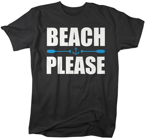 Men's Funny Beach Please T Shirt Nautical Shirts Oars Beachy Tee Funny Beach Shirts-Shirts By Sarah