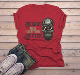 Men's Funny Beard T Shirt Beards Make Everything Better Graphic Tee Skull Shirts-Shirts By Sarah