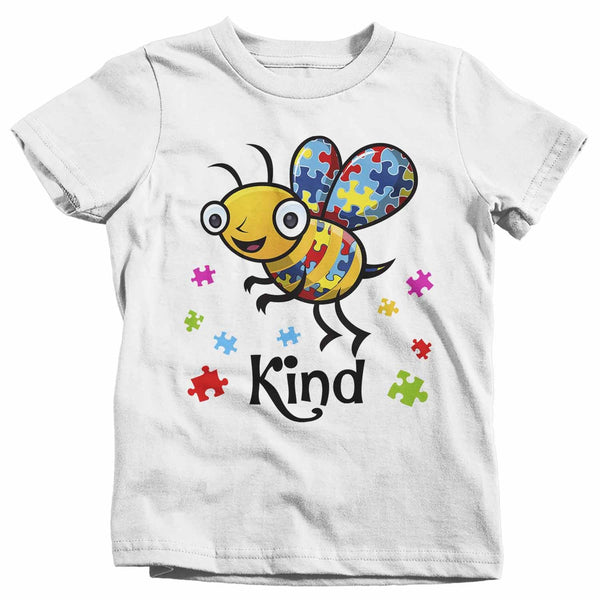 Kids Autism Shirt Bee Kind Shirt Autism T Shirt Be Kind Shirt Cute Bee Kind Puzzle Shirt Autism Awareness Shirt-Shirts By Sarah