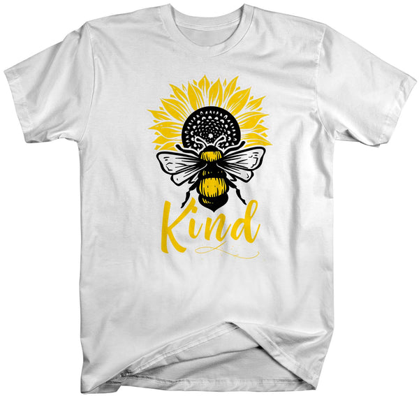 Men's Bee Kind T Shirt Kindness Shirts Be Kind Shirt Bee Shirts Sunflower Shirts Flower T Shirt Vintage Shirt-Shirts By Sarah