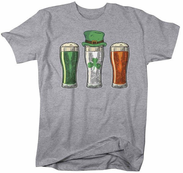 Men's St. Patrick's Day T Shirt Beer Shirt Pint Beer Shamrock Shirt Clover Shirt Party Shirt Drinking Tee-Shirts By Sarah