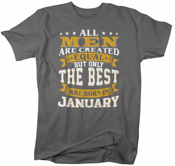 Men's Personalized Birthday Month T-Shirt Birthday Gift Idea Best Born In Birthday Shirts Vintage Shirt-Shirts By Sarah