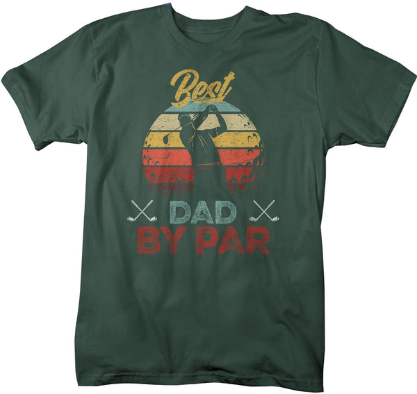 Men's Funny Best Dad By Par T Shirt Father's Day Gift Golf Shirt Funny Dad Gift Father's Gift Funny Dad Shirt-Shirts By Sarah