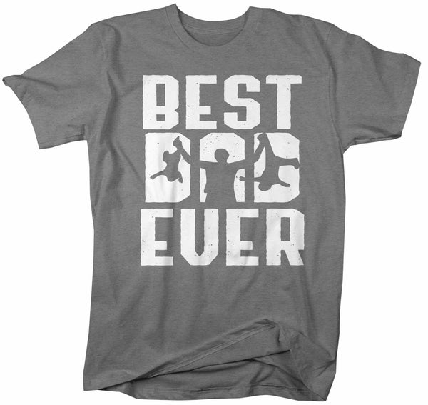 Men's Funny Best Dad Ever T Shirt Father's Day Gift Twins Shirt Funny Dad Gift Father's Gift Funny Dad Shirt-Shirts By Sarah