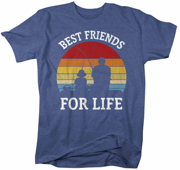 Men's Fishing T Shirts Matching Father Son Best Friends For Life Shirts Father's Day Gift Idea Vintage Shirt-Shirts By Sarah