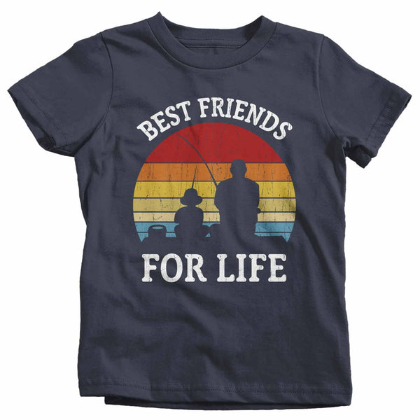 Kids Fishing T Shirts Matching Father Son Best Friends For Life Shirts Father's Day Gift Idea Vintage Shirt-Shirts By Sarah
