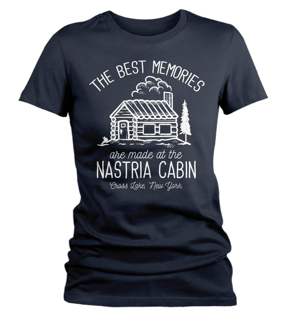 Women's Personalized Cabin T Shirt Life Is Better At Cabin Shirts Custom Camp Shirt Camping T Shirts-Shirts By Sarah