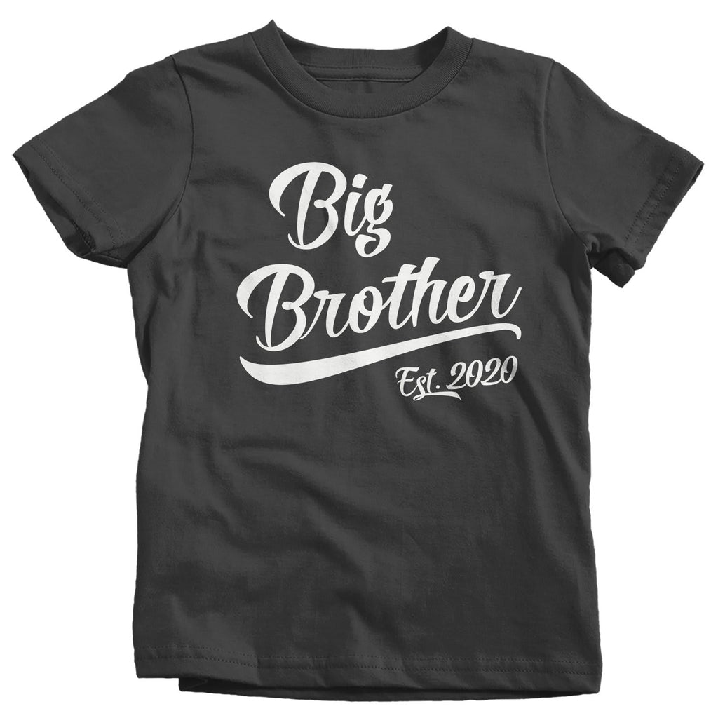 Boy's Big Brother EST. 2020 T-Shirt Promoted to Shirt Baby ...