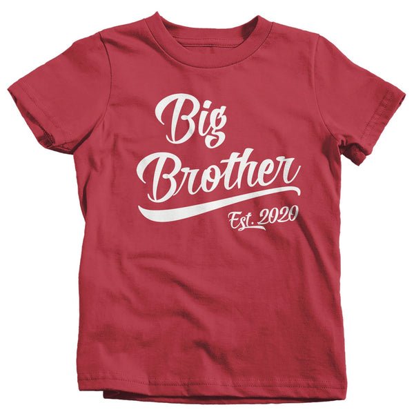 Boy's Big Brother EST. 2020 T-Shirt Promoted to Shirt Baby Reveal Announcement-Shirts By Sarah