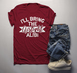 Men's Matching Party T Shirts Bachelor Party Shirt TShirt Best Friends Bring Alibi Tee-Shirts By Sarah