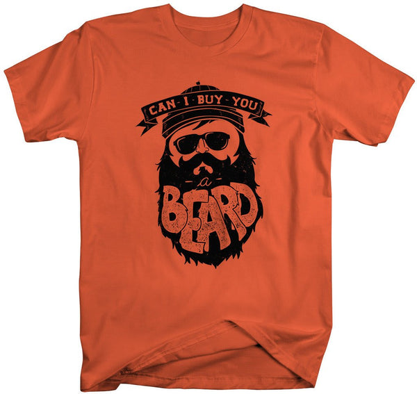 Shirts By Sarah Men's Buy You A Beard T-Shirt Hipster Shirt-Shirts By Sarah