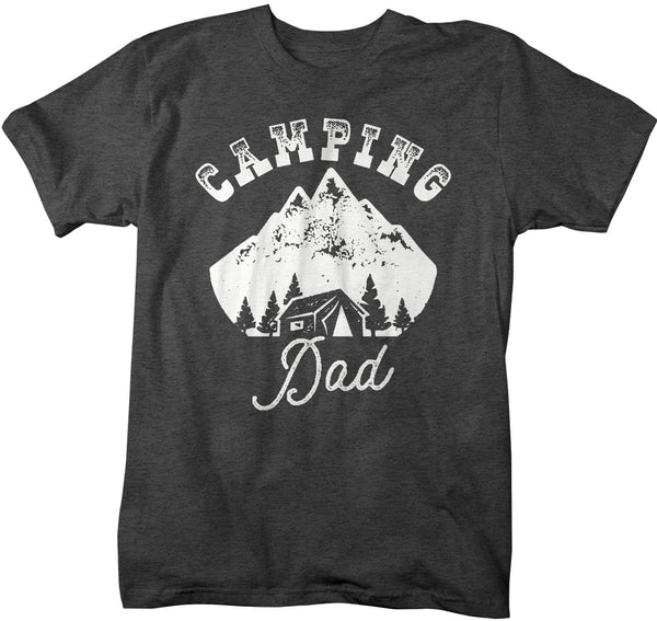 Men's Camping Dad T Shirt Tent Shirt Camper Shirts Camp Dad Shirt Camping Shirts Hipster Shirt Mountains-Shirts By Sarah