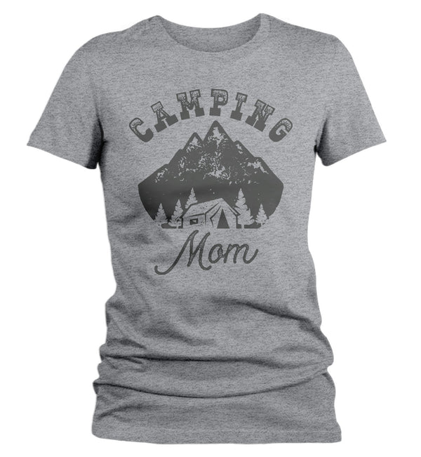 Women's Camping Mom T Shirt Tent Shirt Camper Shirts Camp Mom Shirt Camping Shirts Hipster Shirt Mountains-Shirts By Sarah