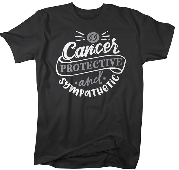 Men's Cancer T-Shirt Protective & Sympathetic Shirt Horoscope Shirt Astrology Shirts Cancer TShirt Astrological-Shirts By Sarah
