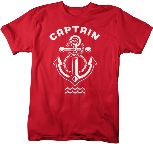 Men's Boat Captain T Shirt Captain Shirt Vintage Anchor Shirt Nautical Boater Shirt Boating T Shirt Captain Pontoon Tee-Shirts By Sarah