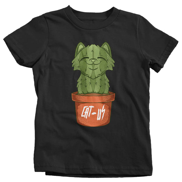 Kids Funny Cat T-Shirt Catcus Shirt Cactus Shirt Funny Cactus Shirt Cat Lover Gift Idea-Shirts By Sarah