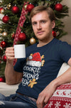 Men's Christmas T Shirt Cookie Baking Crew Matching Xmas Shirts Cute Graphic Tee Santa Hat Cookies Shirt
