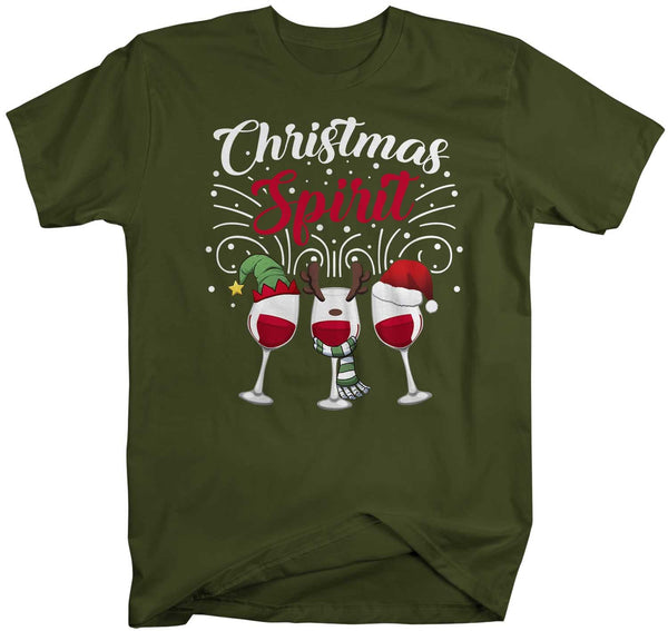Men's Funny Christmas T Shirt Wine Shirt Wine Christmas Shirt Holiday Spirit Shirts Wine Shirt For Christmas-Shirts By Sarah