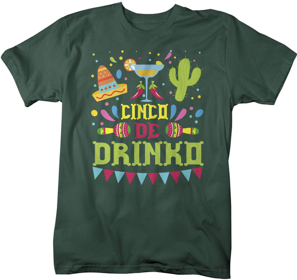 Men's Funny Cinco De Mayo T Shirt Cinco De Drinko Shirt Margarita Shirt Funny Drinking Shirt-Shirts By Sarah