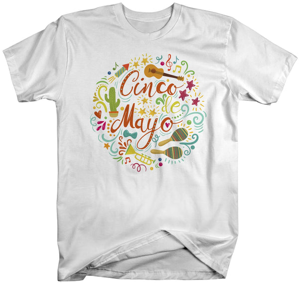 Men's Cinco De Mayo T Shirt Cinco De Mayo Typography Shirt Hipster Shirt Cute Cinco De Mayo Shirt-Shirts By Sarah