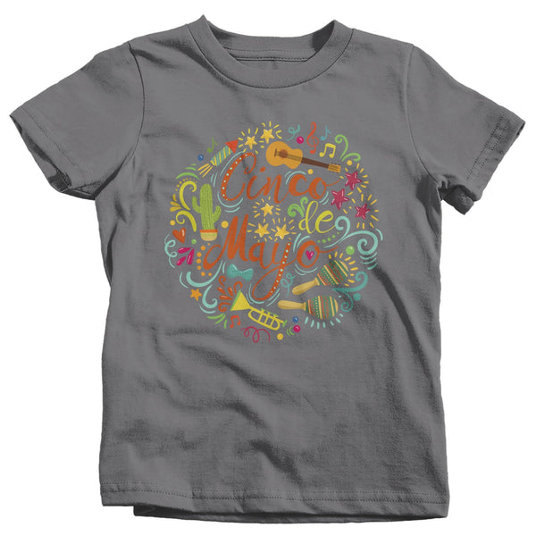 Kids Cinco De Mayo T Shirt Cinco De Mayo Typography Shirt Hipster Shirt Cute Cinco De Mayo Shirt-Shirts By Sarah