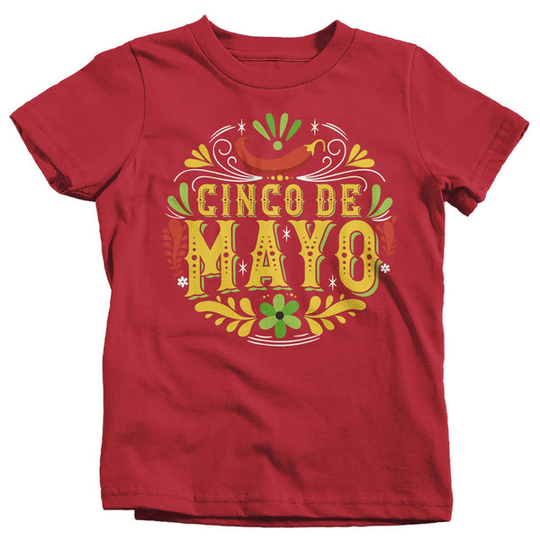 Kids Cinco De Mayo T Shirt Cinco De Mayo Artistic Shirt Hipster Shirt Cute Cinco De Mayo Shirt-Shirts By Sarah