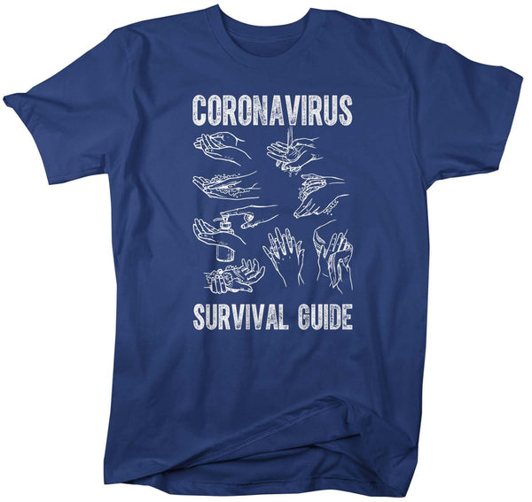 Men's Corona Virus Shirt Corona Virus Survival Guide Shirt Wash Hands Shirt Hand Washing Shirt COVID-19 Coronavirus Shirt-Shirts By Sarah