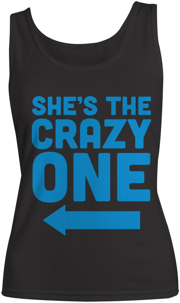 f4ac12b36 Women's She's The Crazy One Best Friend Cotton Tank Top (Right)-Shirts By