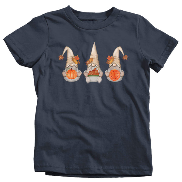 Kids Thanksgiving Gnomes T Shirt Cute Gnome Shirt Fall Pumpkin Vintage Fall Tee Boho Cute Pie Tee Turkey Gnome Tshirt-Shirts By Sarah