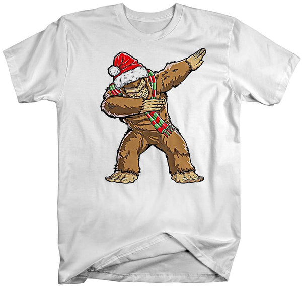Men's Funny Christmas T Shirt Dabbing Bigfoot Shirt Dabbing Sasquatch T Shirt Christmas Shirts-Shirts By Sarah