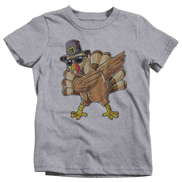 Funny Toddler Thanksgiving T Shirt Dabbing Turkey Shirt Dabs Turkey T Shirt Thanksgiving Shirts-Shirts By Sarah