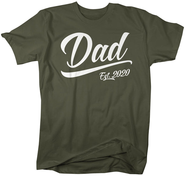 Men's Dad Gift EST. 2020 T-Shirt New Baby Reveal Idea Gift Father's Day Shirts Dad Shirt Dad TShirt-Shirts By Sarah