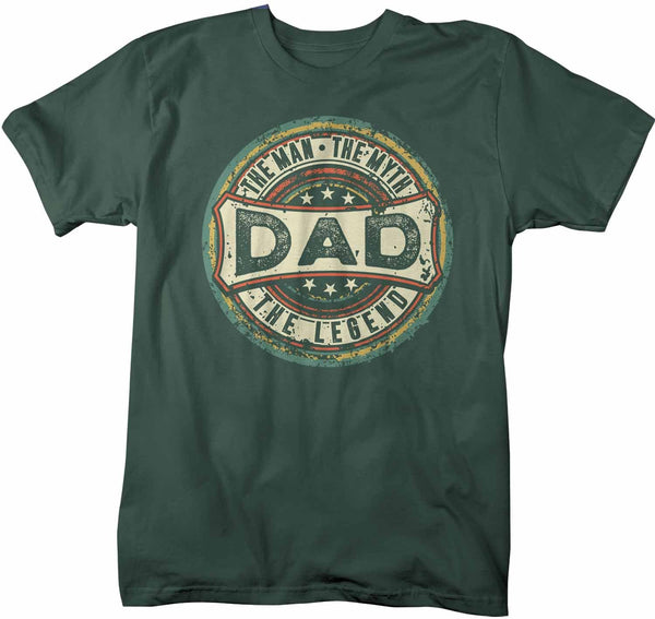Men's Funny Dad T Shirt Father's Day Gift Man Myth Legend Shirt Vintage Shirt Retro Gift Vintage Dad Shirt-Shirts By Sarah